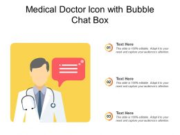 Medical Doctor Icon With Bubble Chat Box