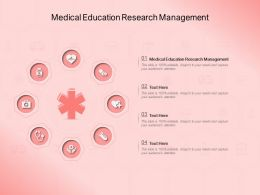 Medical Education Research Management Ppt Powerpoint Presentation Layouts Examples