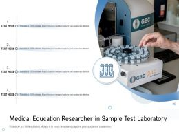 Medical Education Researcher In Sample Test Laboratory