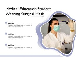 Medical Education Student Wearing Surgical Mask