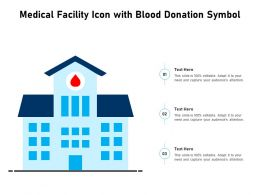 Medical Facility Icon With Blood Donation Symbol