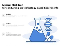Medical Flask Icon For Conducting Biotechnology Based Experiments