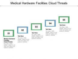 Medical Hardware Facilities Cloud Threats Ppt Powerpoint Presentation Gallery Icons Cpb