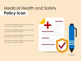 Medical Health And Safety Policy Icon