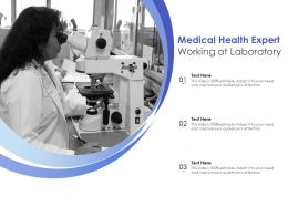 Medical Health Expert Working At Laboratory
