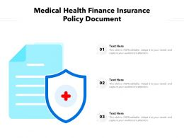Medical Health Finance Insurance Policy Document