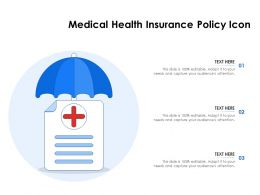 Medical Health Insurance Policy Icon