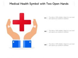 Medical Health Symbol With Two Open Hands