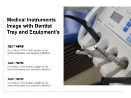 Medical Instruments Image With Dentist Tray And Equipments