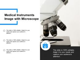 Medical Instruments Image With Microscope