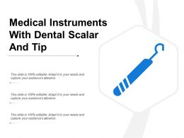 Medical Instruments With Dental Scalar And Tip