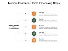 Medical Insurance Claims Processing Steps Ppt Powerpoint Presentation Infographic Template Master Slide Cpb