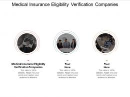 Medical Insurance Eligibility Verification Companies Ppt Powerpoint Presentation Pictures Cpb