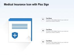 Medical Insurance Icon With Plus Sign