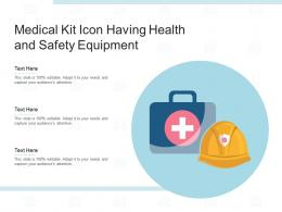 Medical Kit Icon Having Health And Safety Equipment