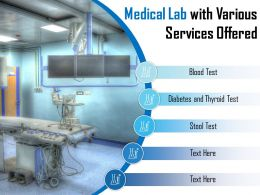 Medical Lab With Various Services Offered