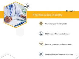 Medical Management Pharmaceutical Industry Ppt Powerpoint Presentation Ideas Outline