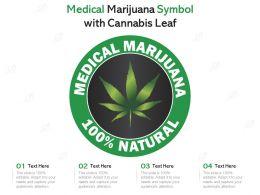 Medical Marijuana Symbol With Cannabis Leaf