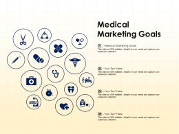 Medical Marketing Goals Ppt Powerpoint Presentation Show Shapes