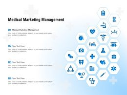 Medical Marketing Management Ppt Powerpoint Presentation Slides Example Introduction