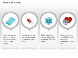 medical_news_symbol_syringe_ecg_report_ppt_icons_graphics_Slide01