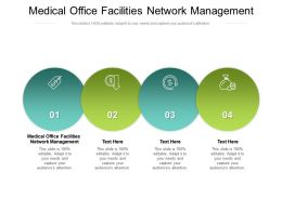Medical Office Facilities Network Management Ppt Powerpoint Presentation Summary Inspiration Cpb