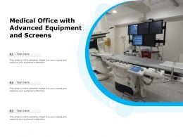 Medical Office With Advanced Equipment And Screens