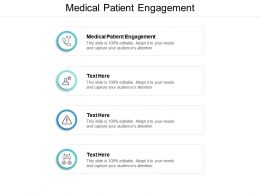 Medical Patient Engagement Ppt Powerpoint Presentation Infographic Template Slide Cpb