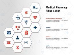 Medical Pharmacy Adjudication Ppt Powerpoint Presentation Slides Show
