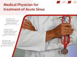 Medical Physician For Treatment Of Acute Sinus