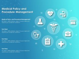 Medical Policy And Procedure Management Ppt Powerpoint Presentation Pictures Examples