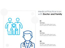 Medical Practice Icon With Doctor And Family