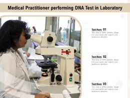 Medical Practitioner Performing DNA Test In Laboratory
