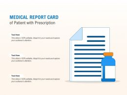 Medical Report Card Of Patient With Prescription