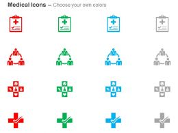 Medical Report Doctor Association Medical Symbol Ppt Icons Graphics