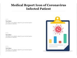 Medical Report Icon Of Coronavirus Infected Patient