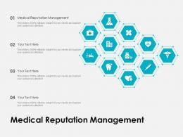 Medical Reputation Management Ppt Powerpoint Presentation Layouts Infographic