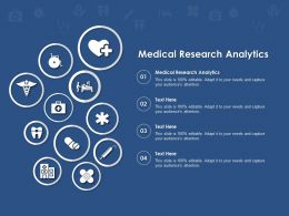 Medical Research Analytics Ppt Powerpoint Presentation Infographics Graphics