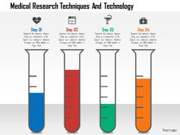 medical_research_techniques_and_technology_flat_powerpoint_design_Slide01