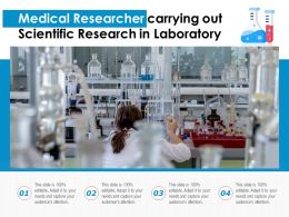 Medical Researcher Carrying Out Scientific Research In Laboratory