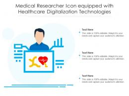 Medical Researcher Icon Equipped With Healthcare Digitalization Technologies