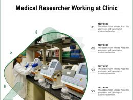 Medical Researcher Working At Clinic