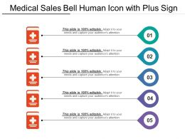 Medical Sales Bell Human Icon With Plus Sign