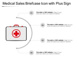 Medical Sales Briefcase Icon With Plus Sign