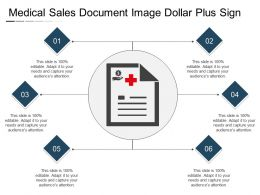 Medical Sales Document Image Dollar Plus Sign
