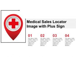 Medical Sales Locator Image With Plus Sign