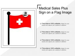 Medical Sales Plus Sign On A Flag Image