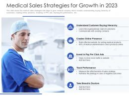 Medical Sales Strategies For Growth In 2023