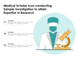 Medical Scholar Icon Conducting Sample Investigation To Attain Expertise In Research