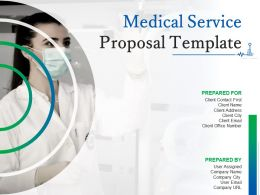 Medical Service Proposal Template Powerpoint Presentation Slides